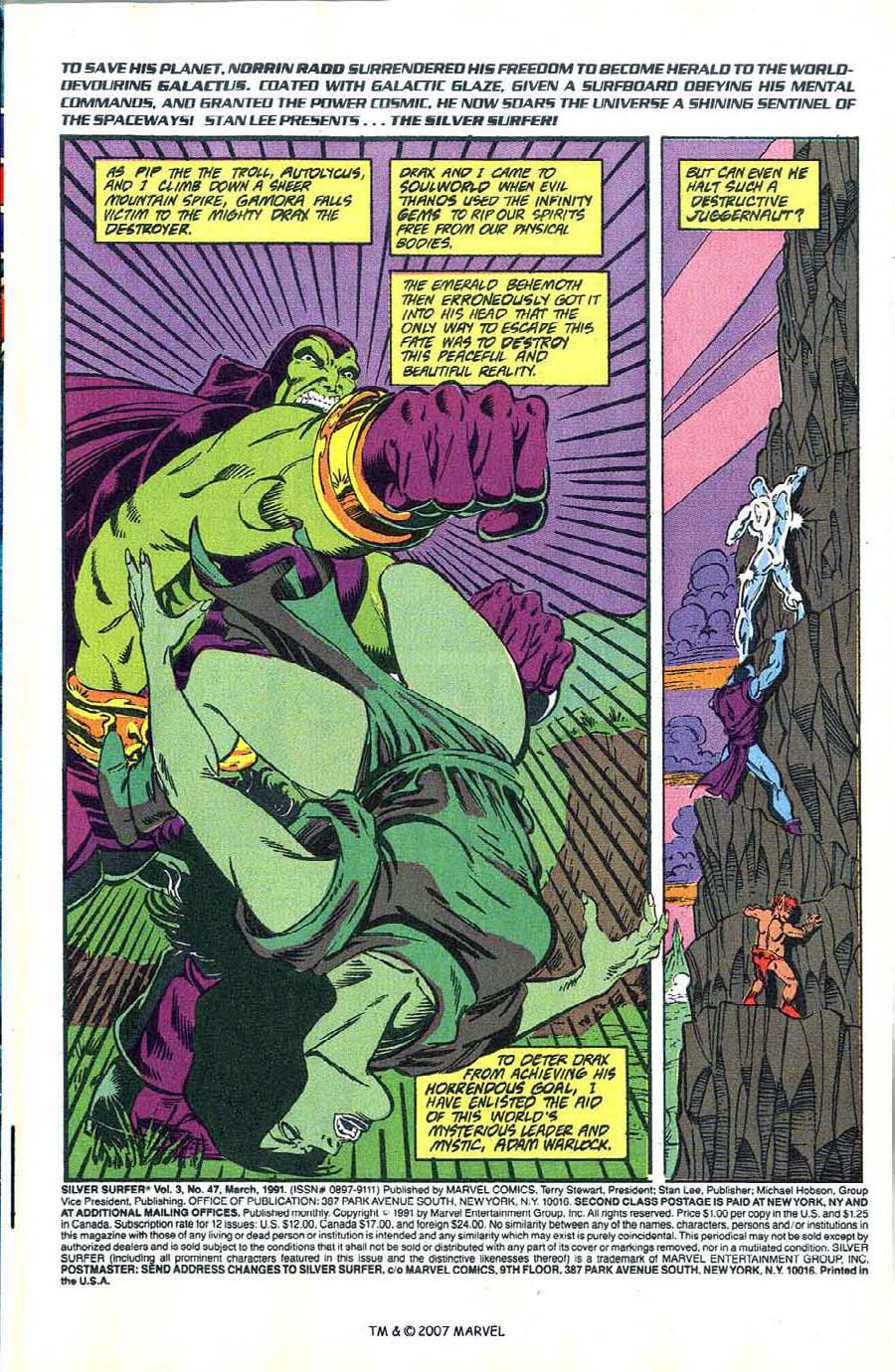 Read online Silver Surfer (1987) comic -  Issue #47 - 3