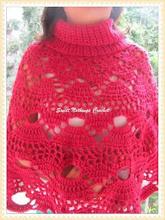 free crochet poncho, Free crochet cowled poncho
