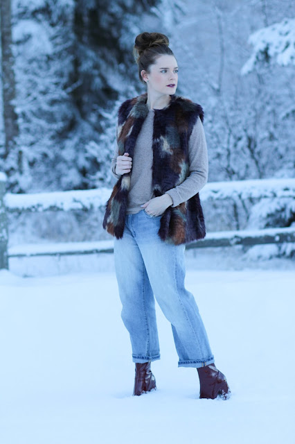 Nordstrom faux fur vest