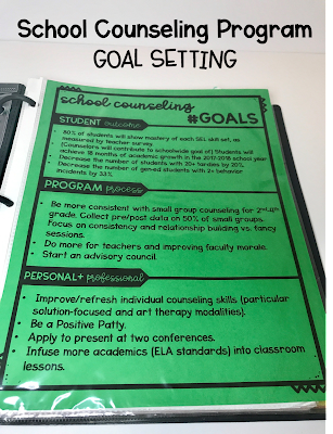 School Counseling goals for my counseling program.