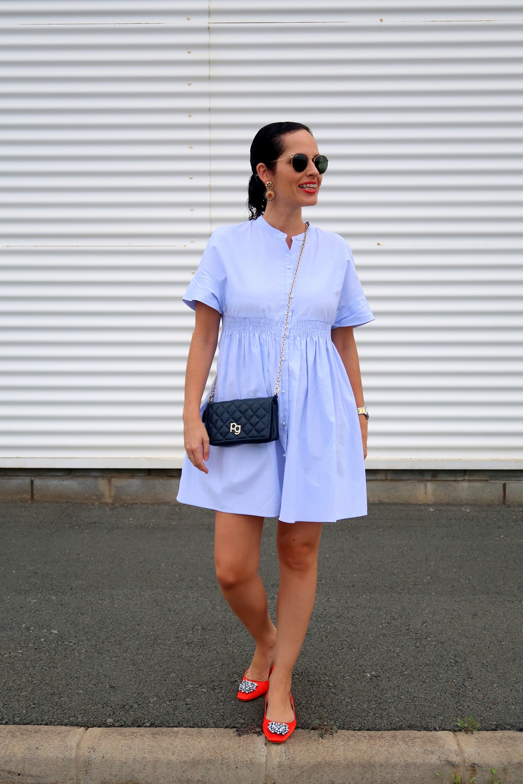 zara-blue-dress-outfit-streetstyle-daily-looks