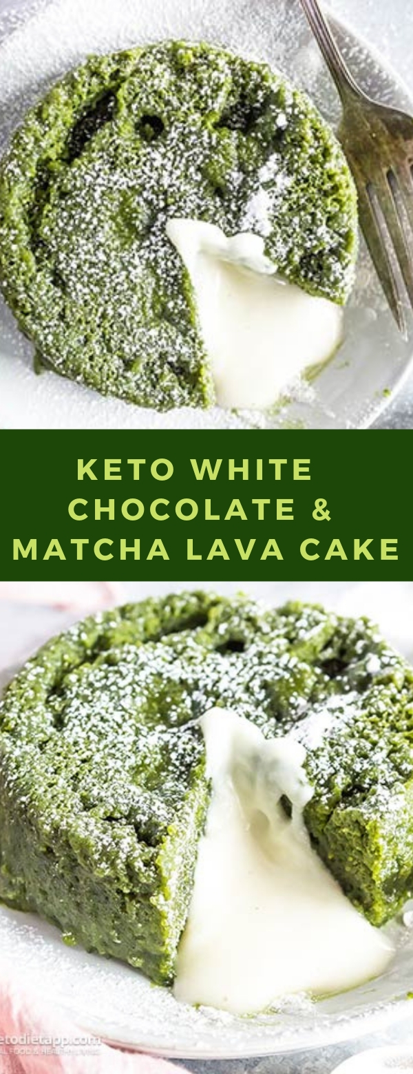 Keto White Chocolate & Matcha Lava Cake