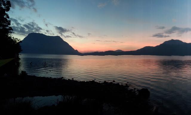 Gunung Tujuh Lake Sunrise