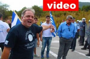 Ένταση στα σύνορα Κρυσταλλοπηγής – Φραστική επίθεση στον Ν.Σταυρακάκη.Δεν άφησαν εθνικιστές να διαμαρτυρηθούν – ΒΙΝΤΕΟ