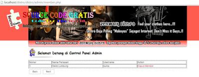 Download Gratis Source Code Aplikasi Distro Berbasis Web
