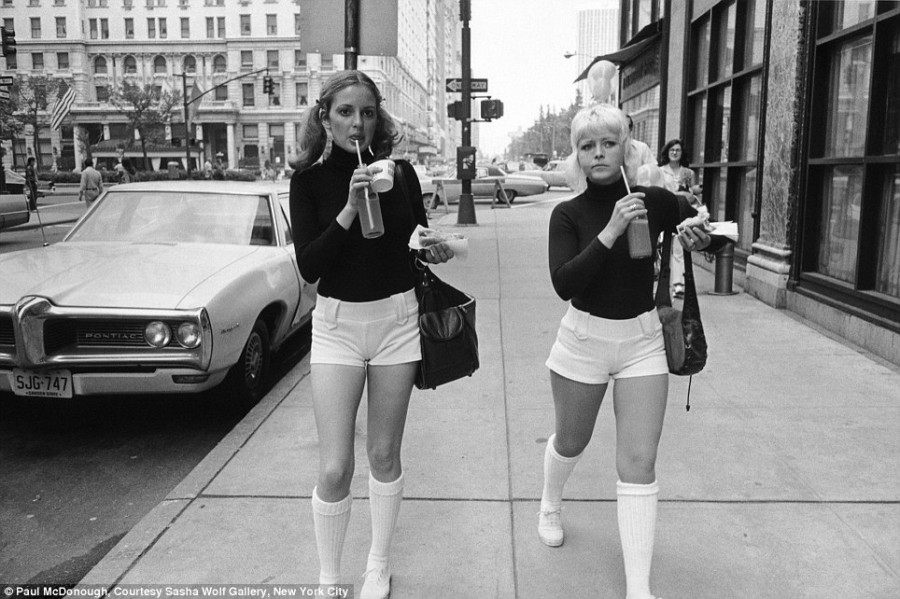 Two women in white shorts 1973