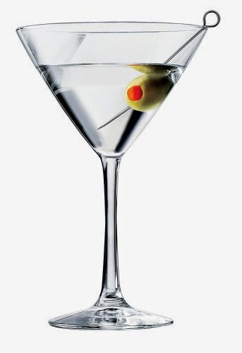 Clear martini glass for hand painting