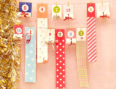 Christmas advent calendar printable