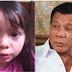 "A heartbreaking message from little girl to Duterte: ""Tatay Digong, don't give up on being a President"""