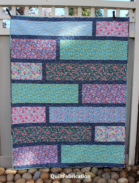Paradise 1, a floral Quarter Cut quilt by QuiltFabrication