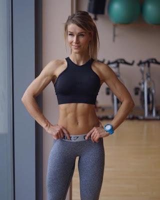 Adrienne Koleszar in yoga pant