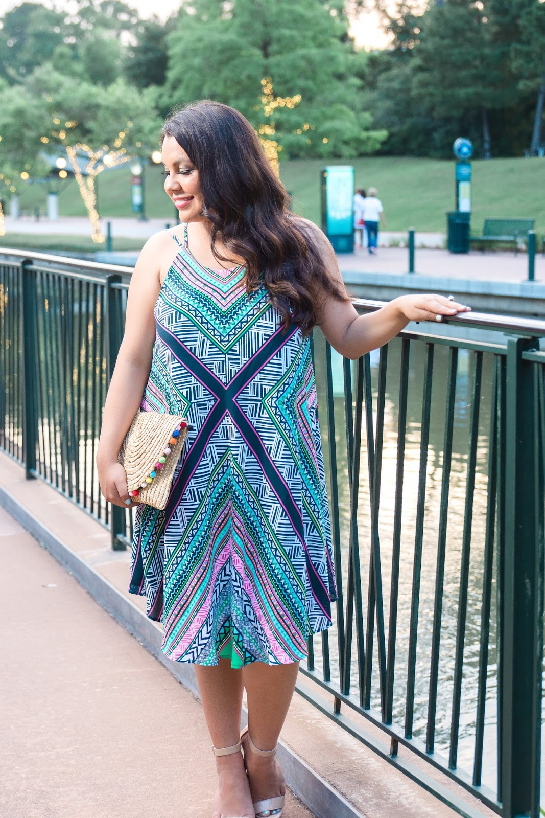 vacation print dress