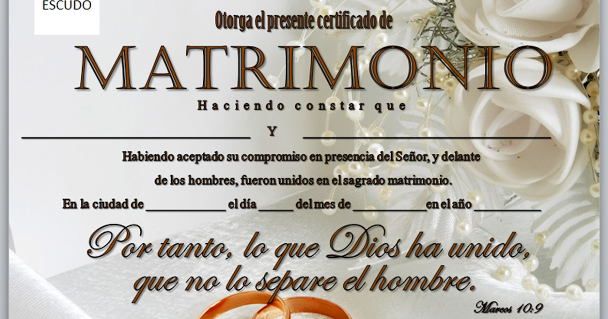 Matrimonio Catolico Y Adventista : Iglesia mar abierto certificados de matrimonio para