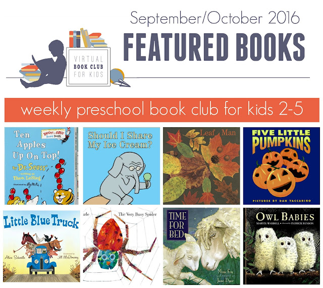 Children's book crafts and activities for September and October