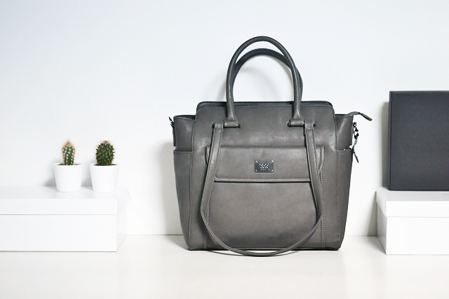 Turn it inside out: Charcoal Marc B bag