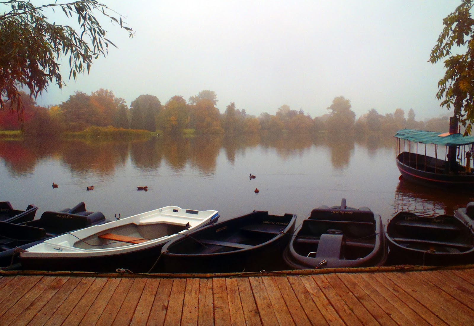 Mist over lake at Hever Castle