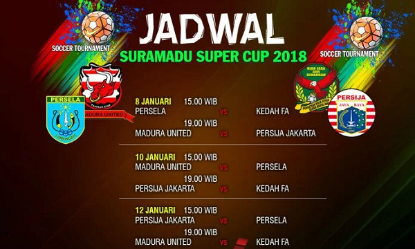 Diikuti 4 Klub, Inilah Jadwal Lengkap Suramadu Super Cup 2018