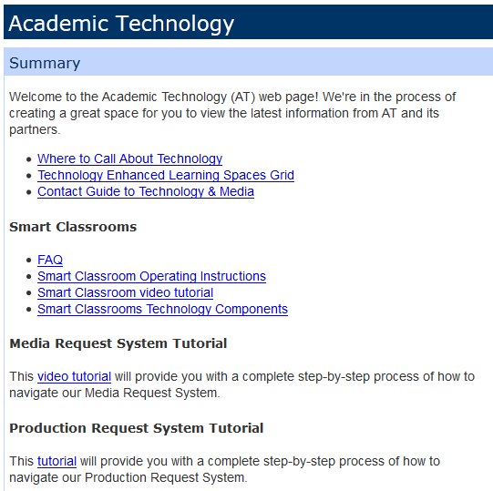 Academic Technology Panel in My NorthShore Tab