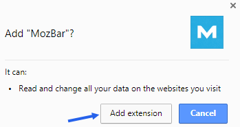 Adding extension to chrome browser