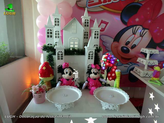 Aniversário infantil Minnie Rosa - Decoração de festa