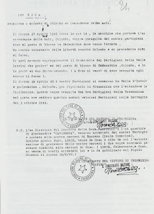 DOCUMENTO RELATIVO AL FERMO E ALL'UCCISIONE DEL COMANDANTE FRANCO COLOMBO
