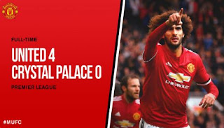 Video Cuplikan Gol Manchester United vs Crystal Palace 4-0