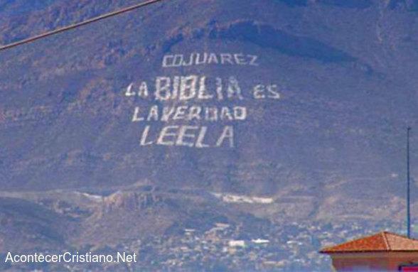 Cerro de la Biblia de Ciudad Juarez, México
