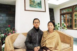 Bharati Tamang with his son Sanyog Tamang