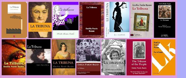 portadas de la novela feminista naturalista La Tribuna, de Emilia Pardo Bazán