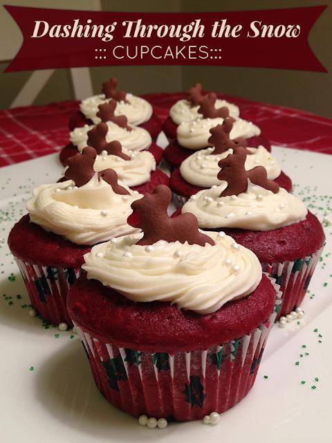 """""""Dashing Through the Snow"""" Cupcakes"""