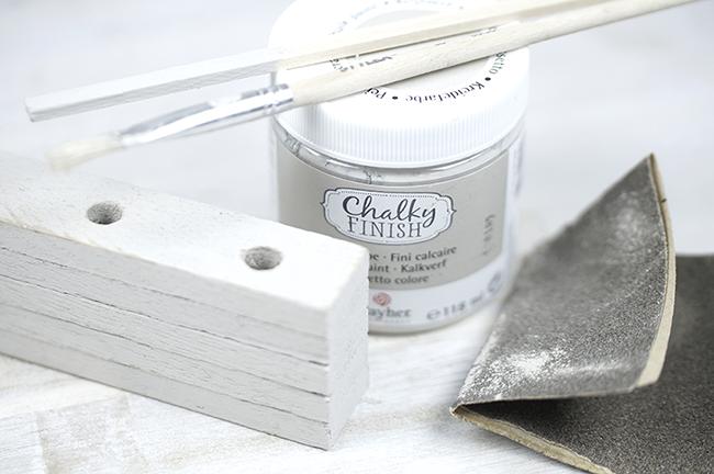 DIY Schreibtisch-Set im Vintagelook | mit Kreidefarbe anpinseln und schmirgeln