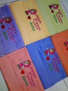 Handuk Bordir Ulang Tahun Bandung