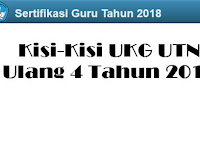 Kisi-Kisi UKG UTN Ulang 4 Tahun 2018