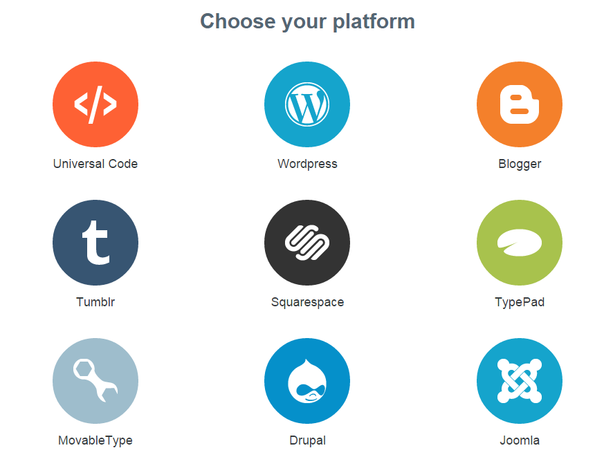 disqus choose platform