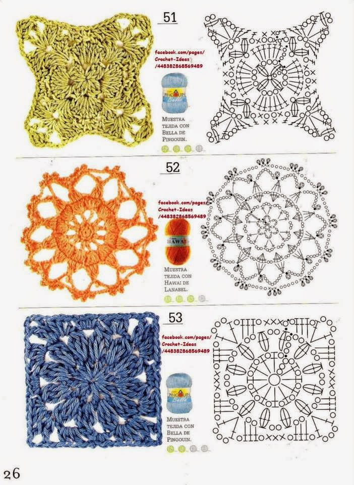 Como hacer módulos y flores en crochet - Revistas de crochet y ...
