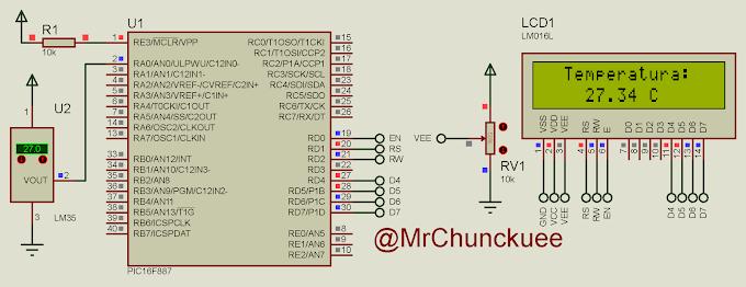 CCS PIC: Sensor de temperatura con LM35