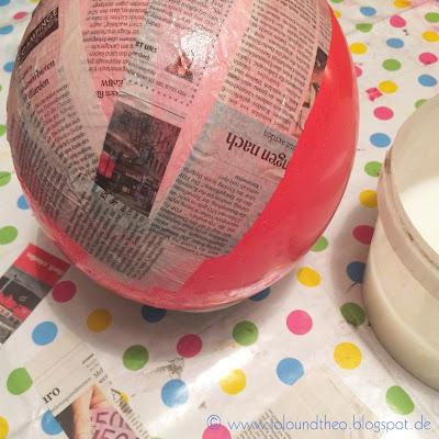 Luftballon, Kleister, Zeitungspapier