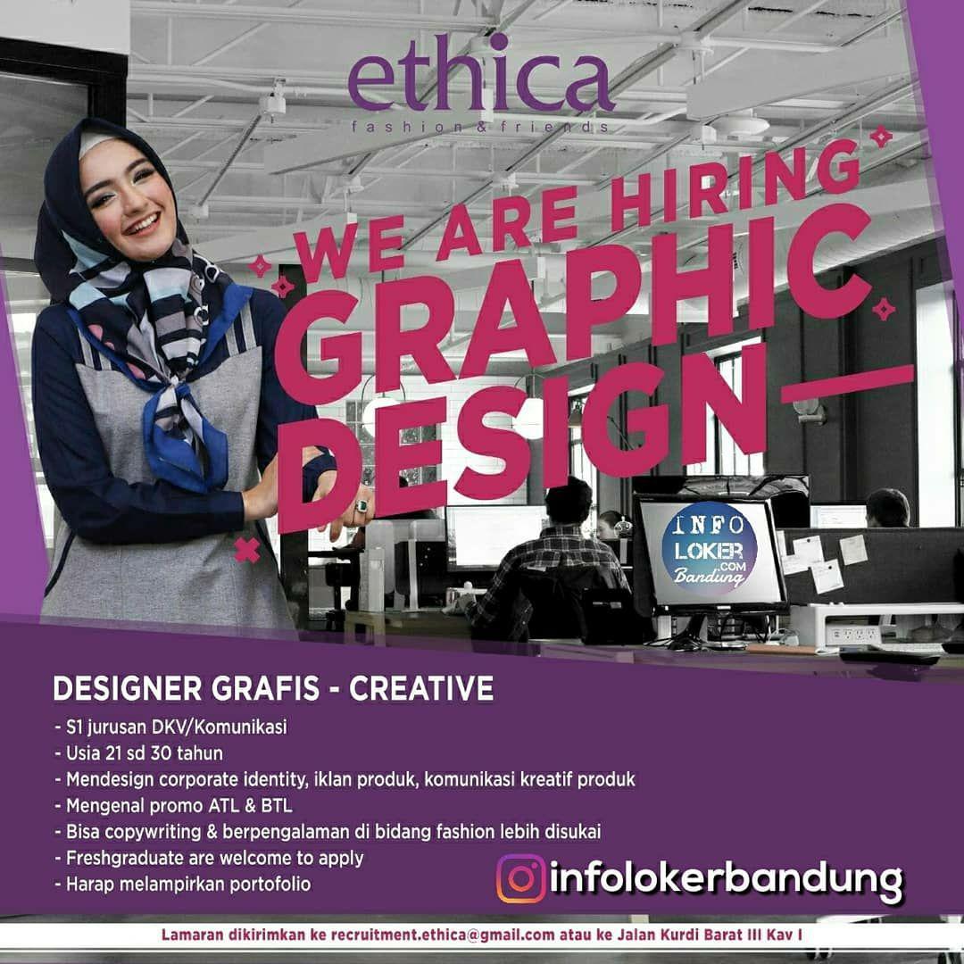 Lowongan Kerja Ethica Fashion & Friends Bandung Oktober 2018