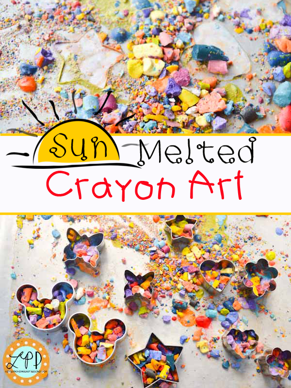 Sun-Melted Crayon Art from A Little Pinch of Perfect