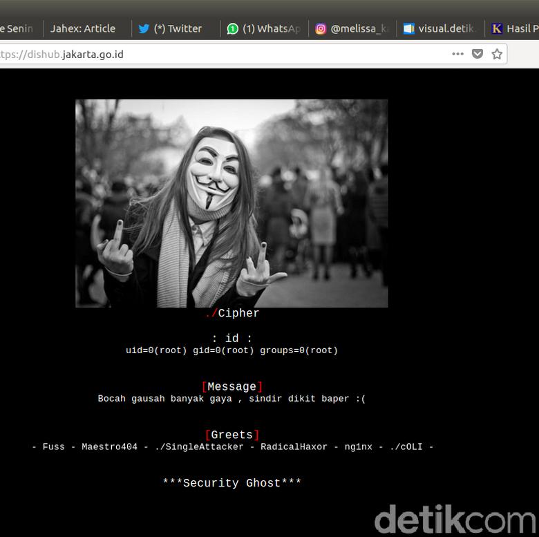 Berita Terkini Indonesia: Website Dishub Jakarta Diretas