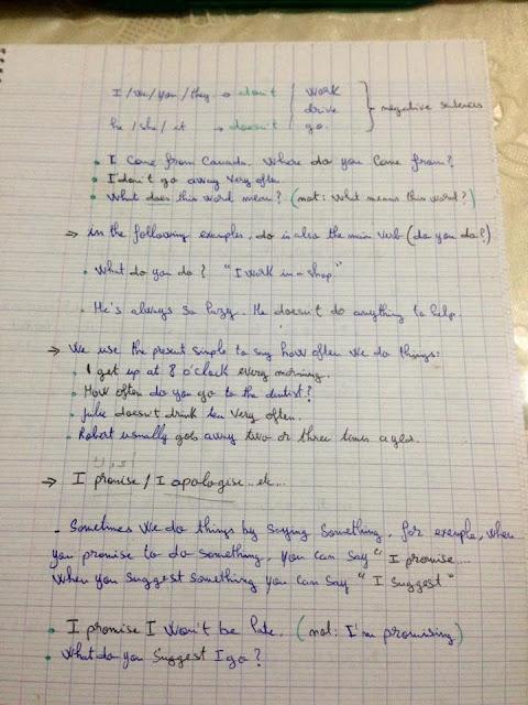 الثانية بكالوريا:الدرس الأول present simple :المضارع البسيط