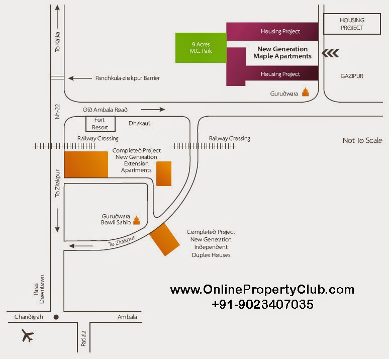 location map maple apartments ziirakpur
