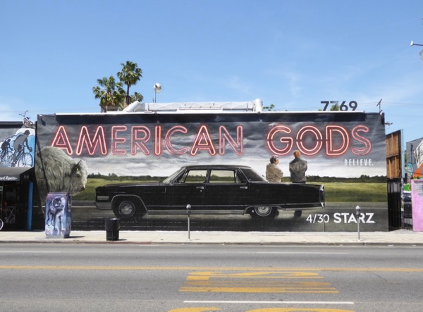 American Gods wall mural ad