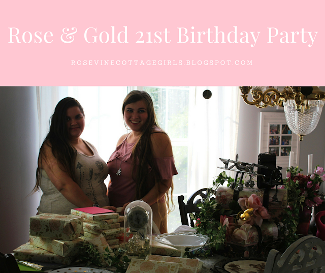 #RoseAndGold #Birthday #Party #Decorating #Event #Cottage #ShabbyChic #Vintage #21stBirthday #Decorations #Pink