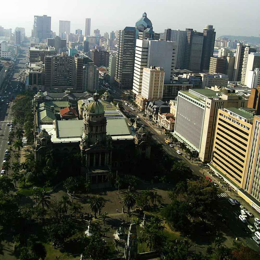 Durban, Cidade da Província de KwaZulu-Natal na África do Sul