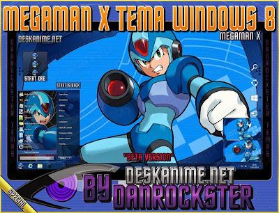 Megaman X Tema Windows 8 | Desk Anime