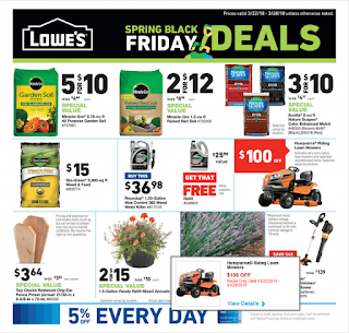 Lowe's Weekly Ad March 22 - 28, 2018