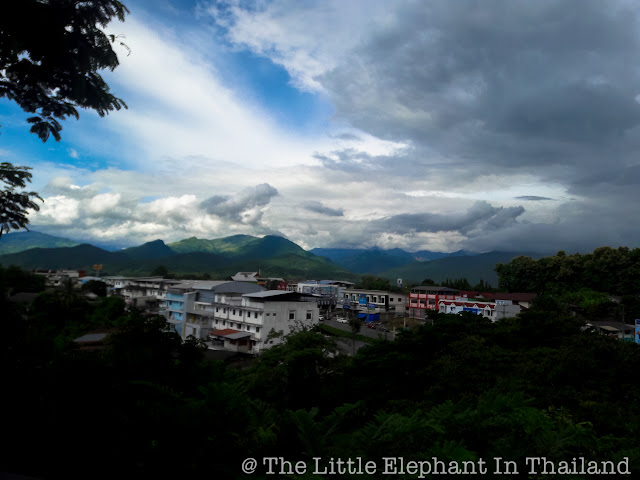 Overlooking Pua from Cocoa Valley Coffee Shop in Pua, Nan - Thailand