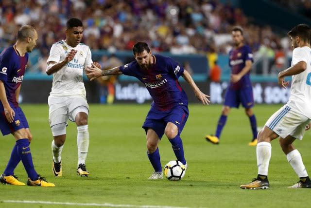 Barcelona Menang atas Real Madrid pada El Clasico di Miami