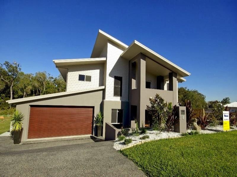 Decoracion actual de moda fachadas de casas modernas for Fachadas de casas modernas a desnivel